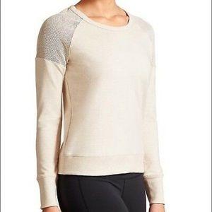 Athleta citytime sweatshirt heater oatmeal sz.L